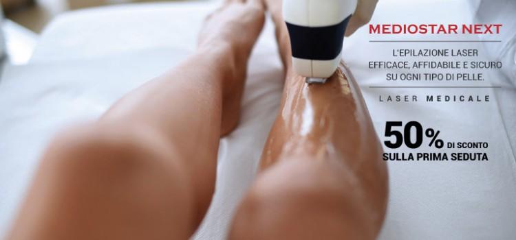 MEDIOSTAR NEXT: L'epilazione Laser sicuro ed efficace !